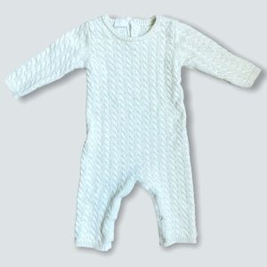 Cuddl Duds   Cable Knit Romper (9 mos)